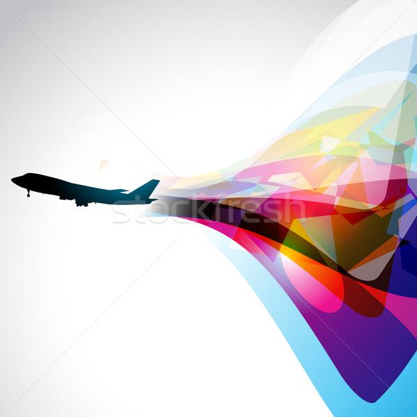 vector airplane artwork Stock photo © Pinnacleanimates
