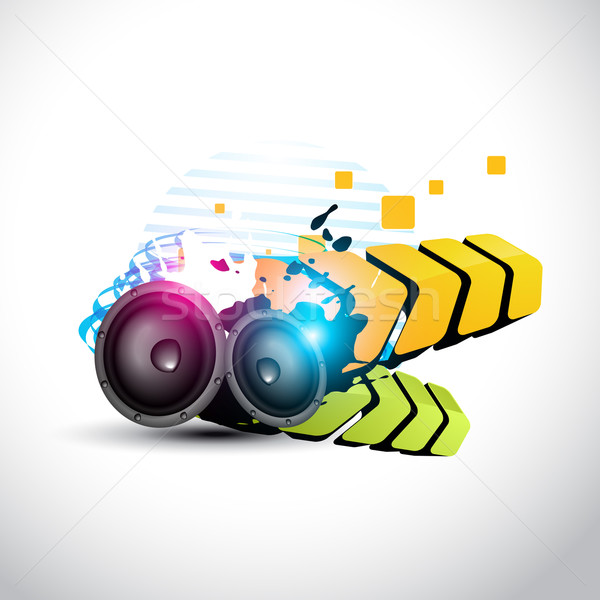 vector stylish speaker eps10 speaker design Stock photo © Pinnacleanimates