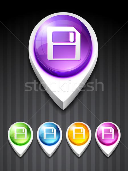 vector floppy disk icon Stock photo © Pinnacleanimates