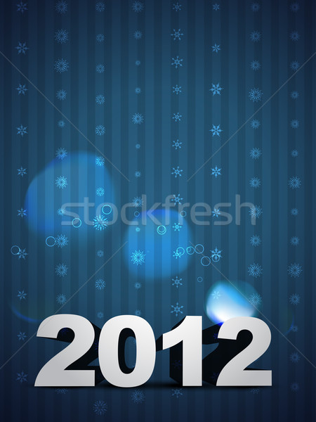 2012 happy new year vecteur espace heureux art Photo stock © Pinnacleanimates