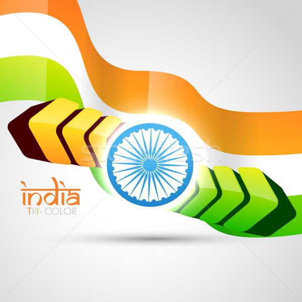 indian flag vector flag Stock photo © Pinnacleanimates