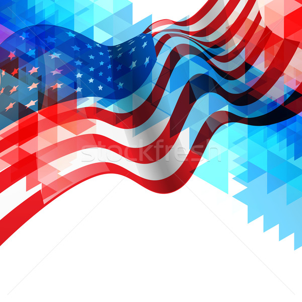 Amerikaanse vlag ontwerp abstract star vrijheid viering Stockfoto © Pinnacleanimates