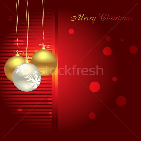 Christmas wektora złoty kolor szczęśliwy Zdjęcia stock © Pinnacleanimates