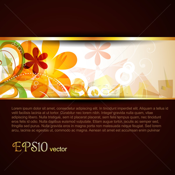Vector sablon abstract elegant eps10 floare Imagine de stoc © Pinnacleanimates