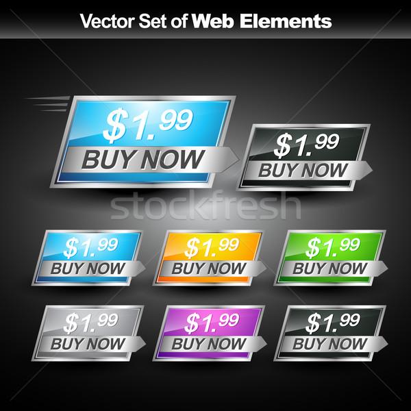Webボタン ベクトル デザイン ボックス 緑 ストックフォト © Pinnacleanimates