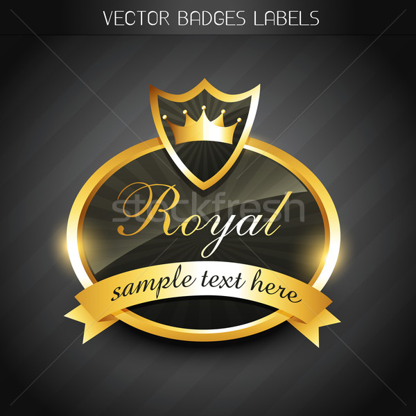 royal label Stock photo © Pinnacleanimates