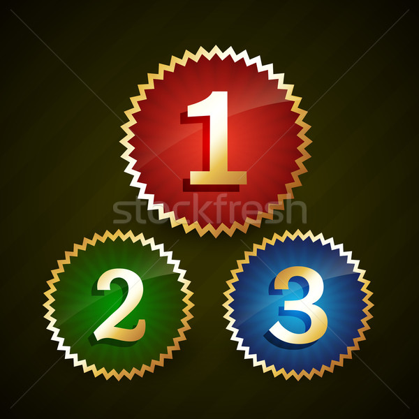 rank number one two three Stock photo © Pinnacleanimates