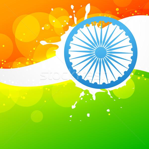 vector indian flag Stock photo © Pinnacleanimates