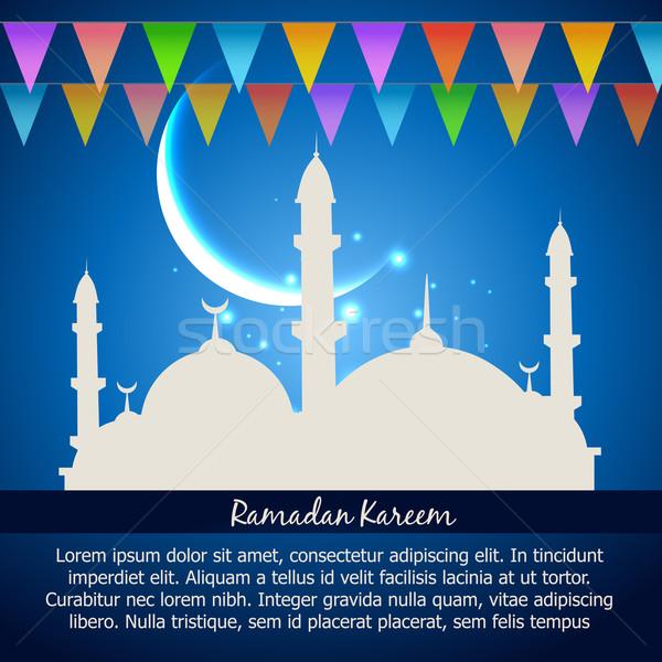 Ramadán ünneplés vektor absztrakt háttér csillag Stock fotó © Pinnacleanimates