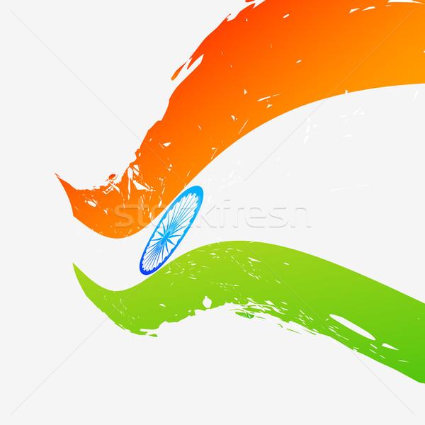 vector flag of india Stock photo © Pinnacleanimates