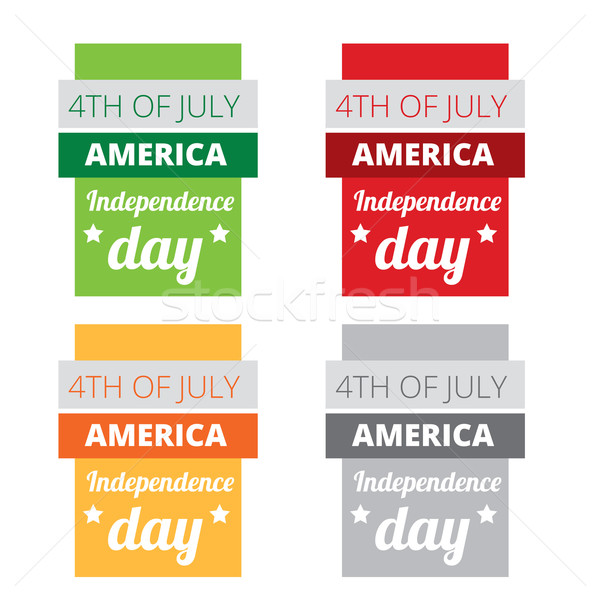 set of american independence day Stock photo © Pinnacleanimates