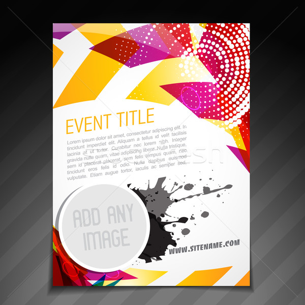 Evento poster design vettore brochure flyer Foto d'archivio © Pinnacleanimates