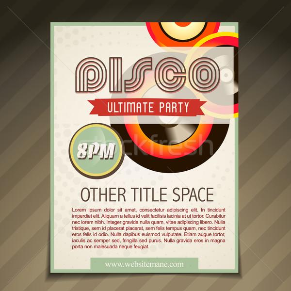 disco party brochure design Stock photo © Pinnacleanimates