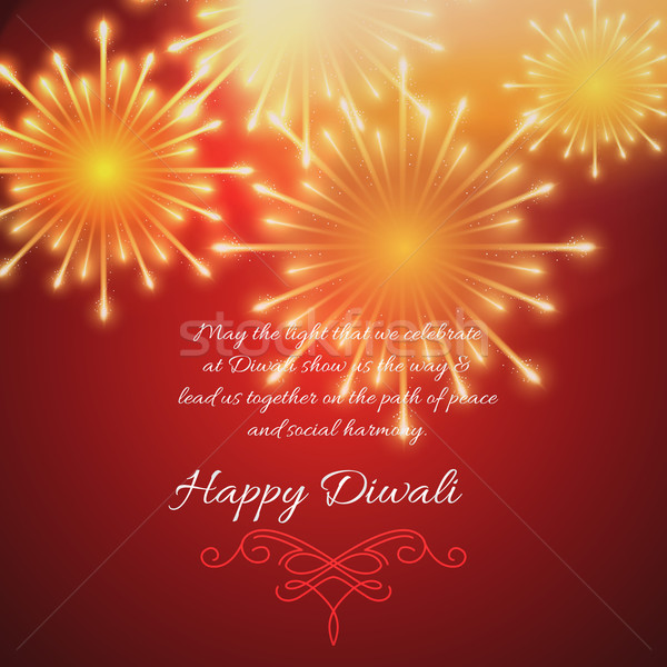 Hermosa diwali vector feliz luz lámpara Foto stock © Pinnacleanimates