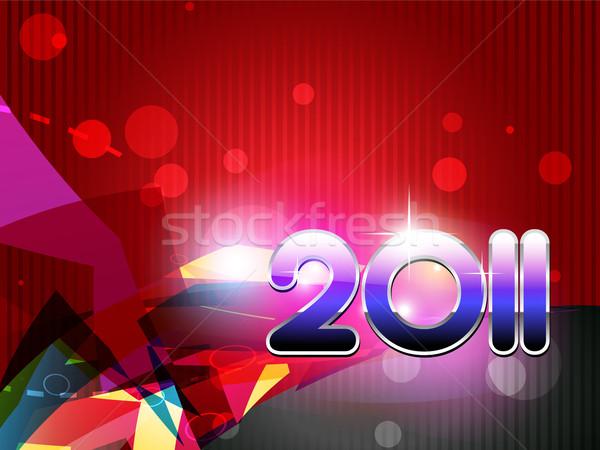 Boldog új évet vektor új év terv művészet háttér Stock fotó © Pinnacleanimates
