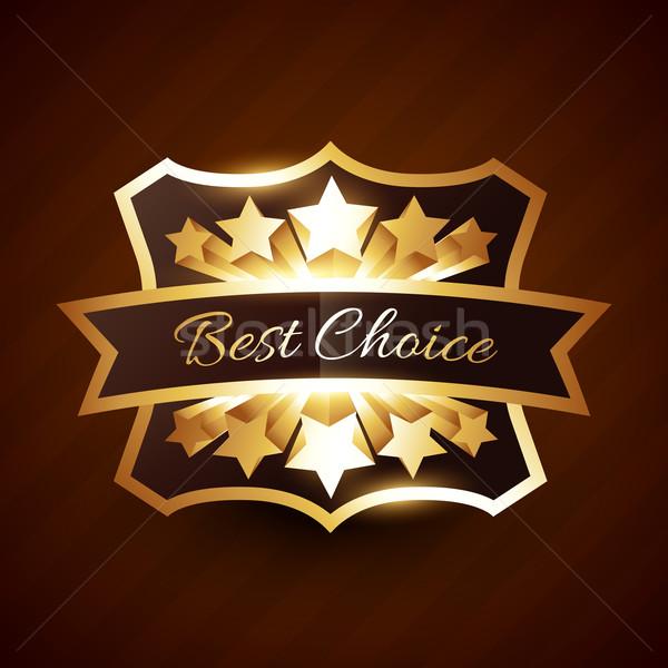 Лучший выбор Label дизайна звезды лента Сток-фото © Pinnacleanimates