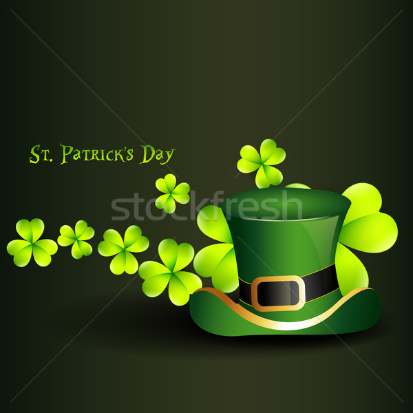 St Patricks Day hat Klee Natur Design Blatt Stock foto © Pinnacleanimates