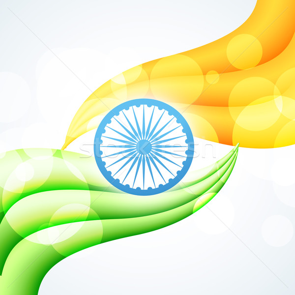Stylish indian Flagge Design Vektor Kunst Stock foto © Pinnacleanimates
