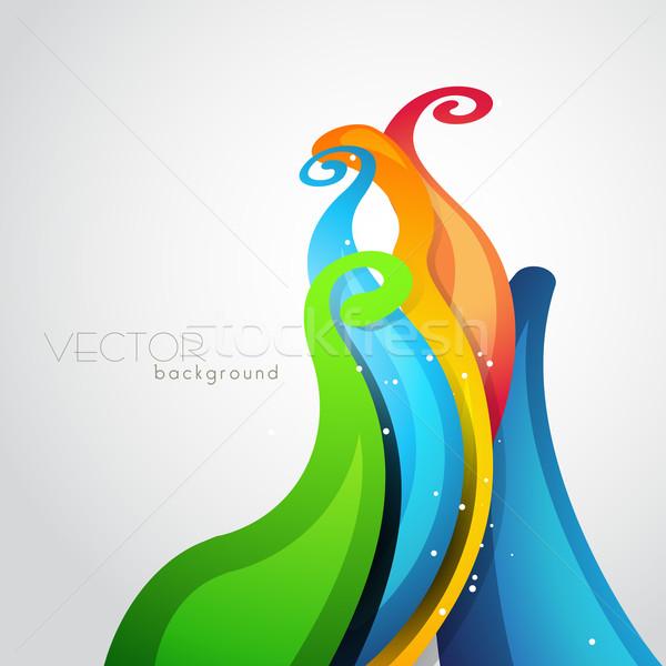 colorful wave Stock photo © Pinnacleanimates