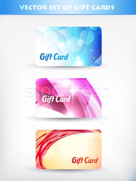 Vettore set carta regalo compleanno sfondo web Foto d'archivio © Pinnacleanimates