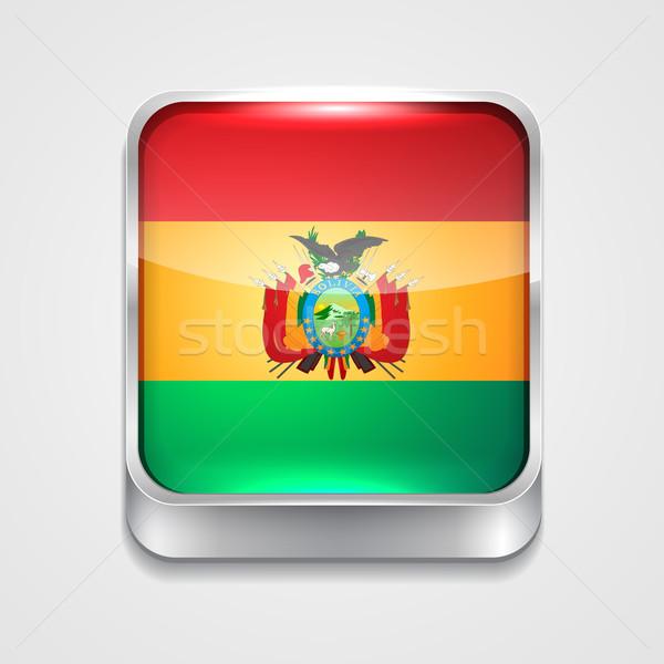 Zászló Bolívia vektor 3D stílus ikon Stock fotó © Pinnacleanimates