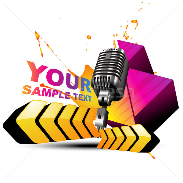 vector mic colorful background Stock photo © Pinnacleanimates