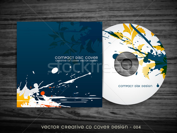Soyut cd kapak dizayn sıçrama stil Stok fotoğraf © Pinnacleanimates