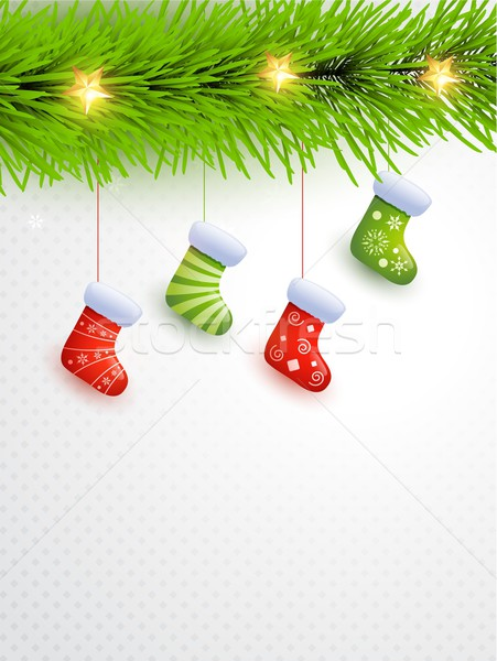 Enforcamento natal meias elegante feliz quadro Foto stock © Pinnacleanimates