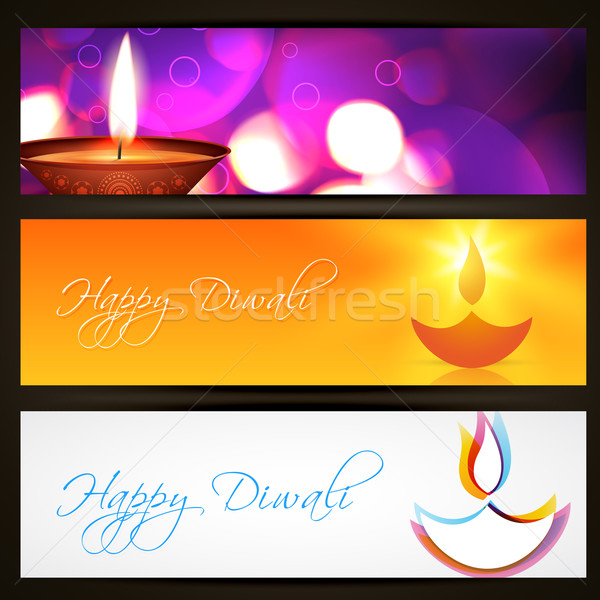 Stock photo: vector diwali headers