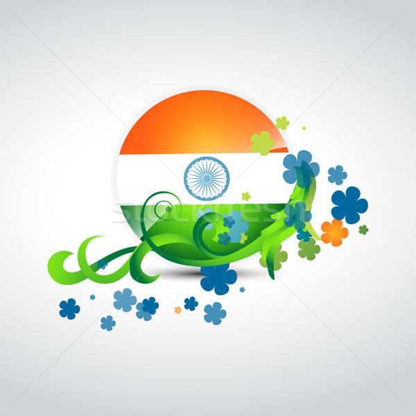 Foto stock: Elegante · indio · bandera · diseno · vector · resumen
