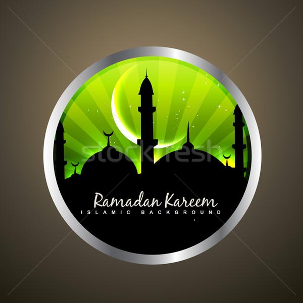 Ramadan label stijlvol ontwerp abstract achtergrond Stockfoto © Pinnacleanimates