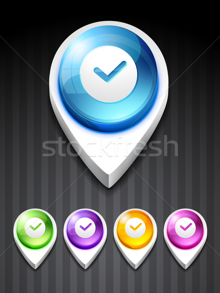 Vector corregir icono diseno arte negocios Foto stock © Pinnacleanimates