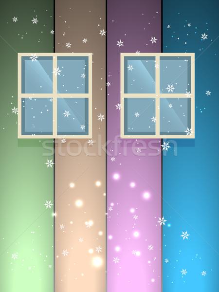 winter snow flakes Stock photo © Pinnacleanimates