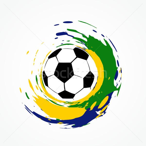 Foto stock: Vetor · jogo · de · futebol · projeto · futebol · futebol · fundo