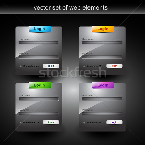 Web login forma stile elemento design Foto d'archivio © Pinnacleanimates