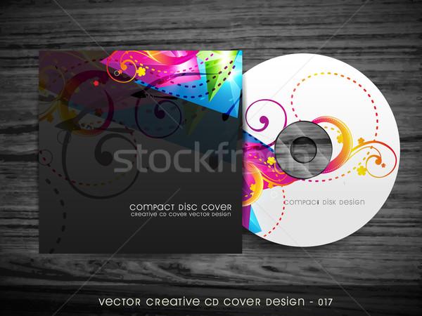 красочный компакт-диск охватывать дизайна компьютер Сток-фото © Pinnacleanimates