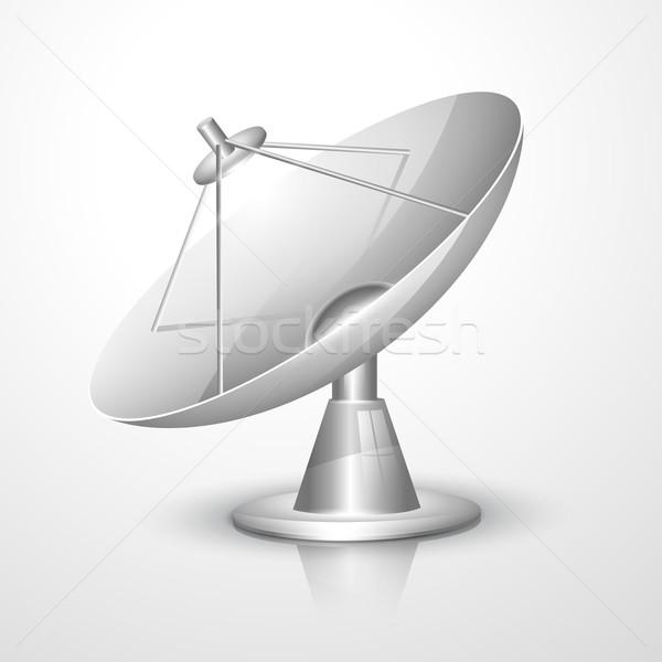 Wektora radar naczyń przestrzeni rysunek bezprzewodowej Zdjęcia stock © Pinnacleanimates