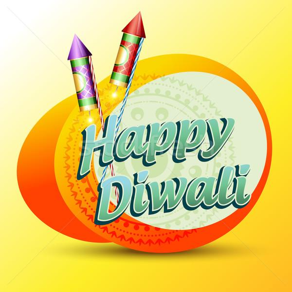 happy diwali Stock photo © Pinnacleanimates