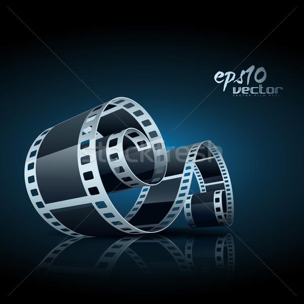 Stock fotó: Vektor · filmszalag · valósághű · 3D · művészet · űr