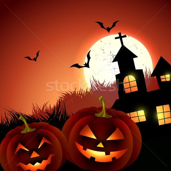Raccapricciante halloween vettore horror design illustrazione Foto d'archivio © Pinnacleanimates