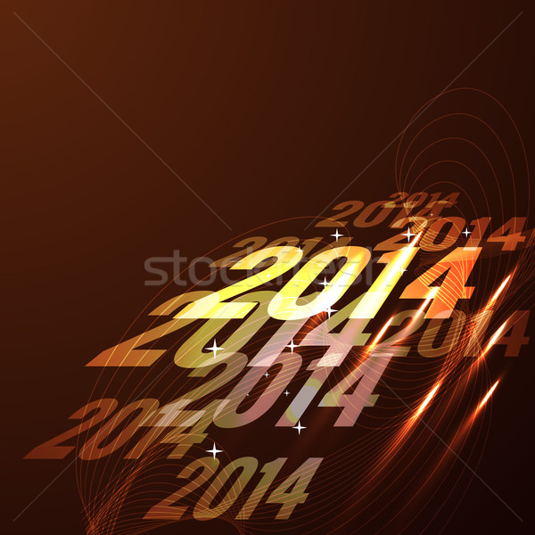 glowing happy new year design Stock photo © Pinnacleanimates