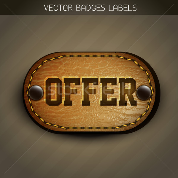 leather offer label  Stock photo © Pinnacleanimates