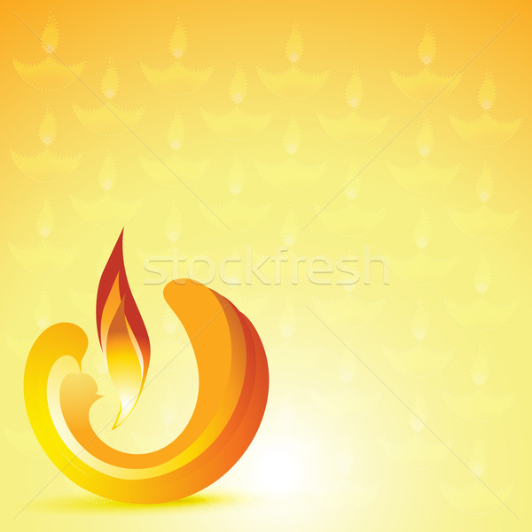 stylish diwali diya background Stock photo © Pinnacleanimates