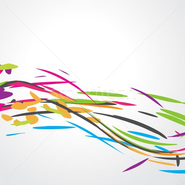 Absztrakt színes hullám terv vektor művészet Stock fotó © Pinnacleanimates
