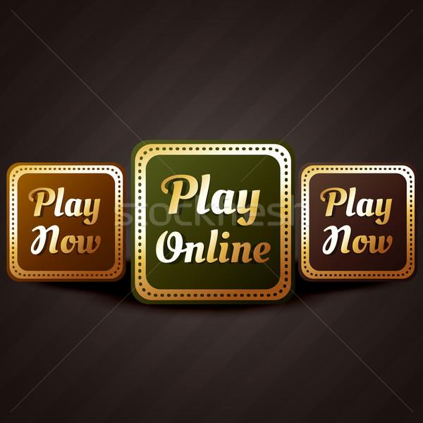 Stock fotó: Játék · online · kaszinó · stílus · játék · gomb