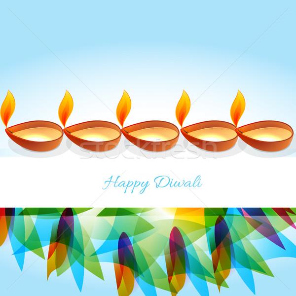 Stock photo: happy diwali background