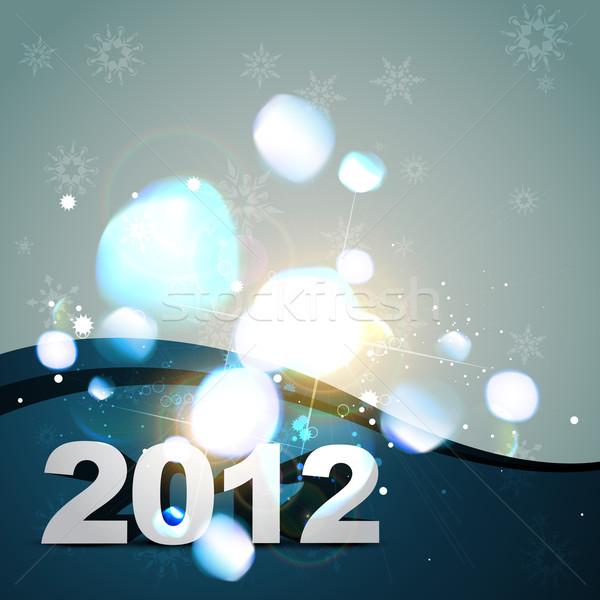 Boldog új évet vektor űr boldog fény művészet Stock fotó © Pinnacleanimates