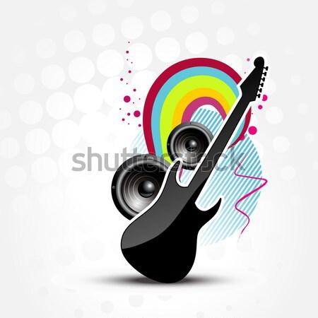 Abstract muziek ontwerp vector partij lichaam Stockfoto © Pinnacleanimates