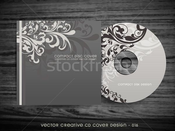 Cd cobrir projeto elegante floral arte Foto stock © Pinnacleanimates
