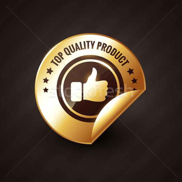 Stok fotoğraf: üst · kalite · ürün · altın · etiket